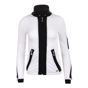 Women`s Cosmo Tennis Jacket White and Black