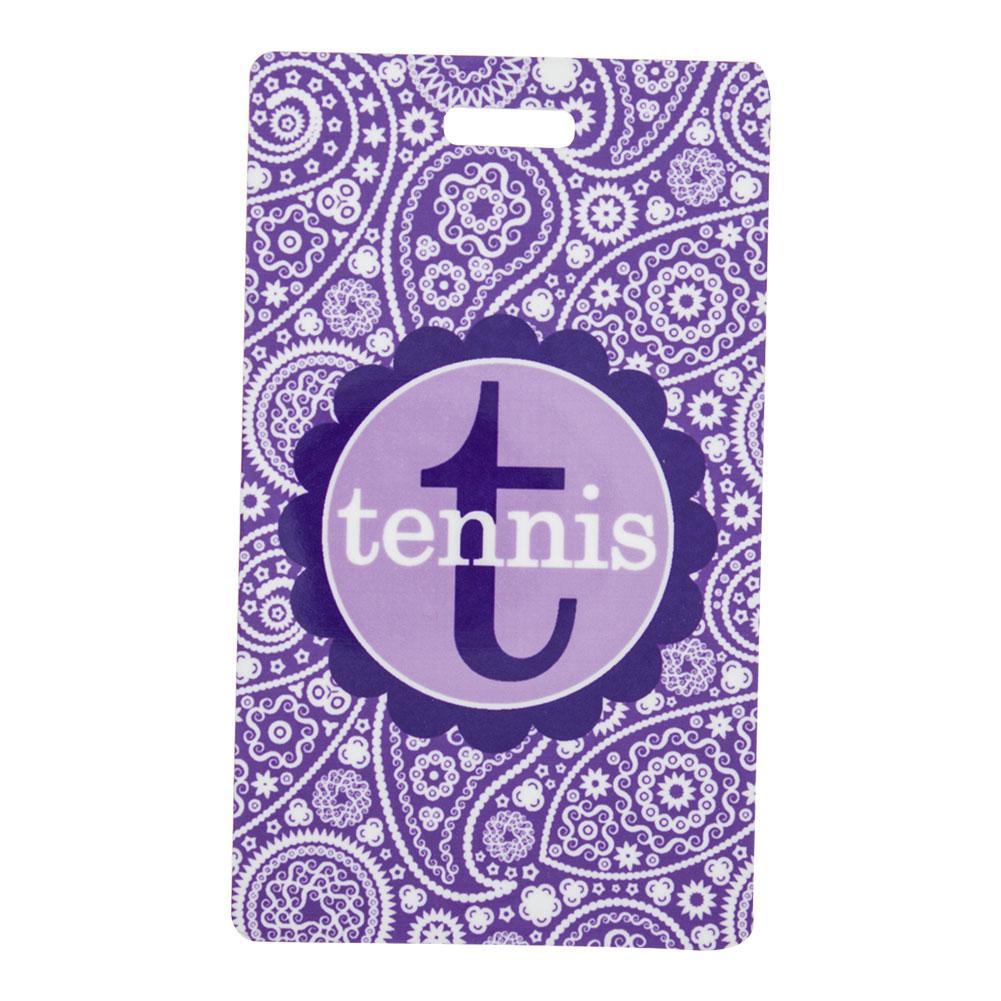 Rectangle Tennis Bag Tag
