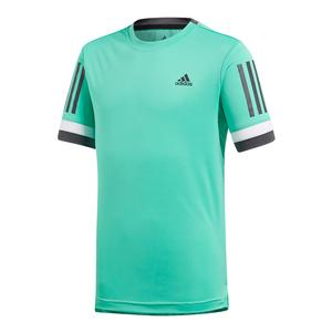 Boys` Club 3 Stripes Tennis Tee Hi-Res Green