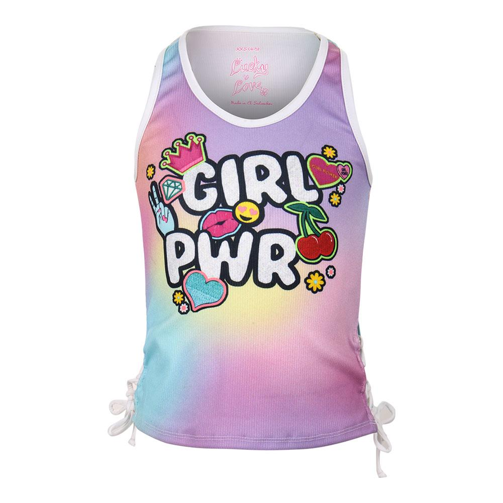 Girls ` Rib Tennis Tank Girl Power