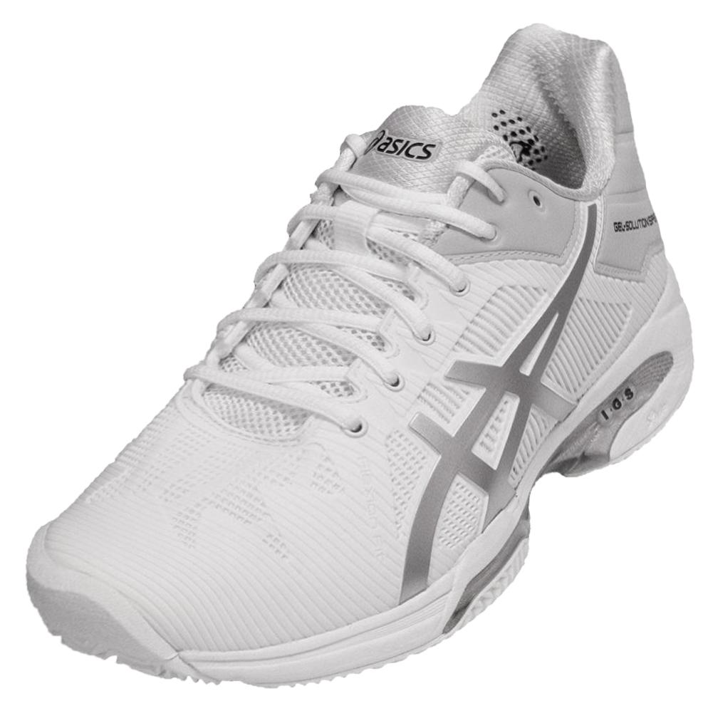 Men's Gel- Solution Speed 3 Clay Tennis Shoes White And Silver