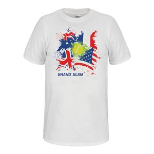 Unisex Grand Slam Tennis Tee White
