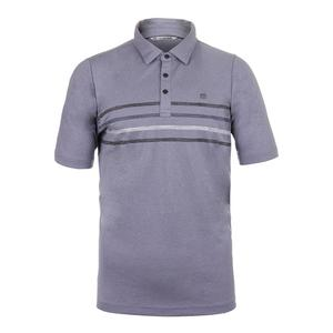 Men`s Plautz Tennis Polo Heather Blue Granite