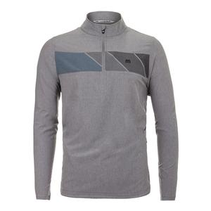 Men`s Manning Long Sleeve Tennis Top Heather Quiet Shade