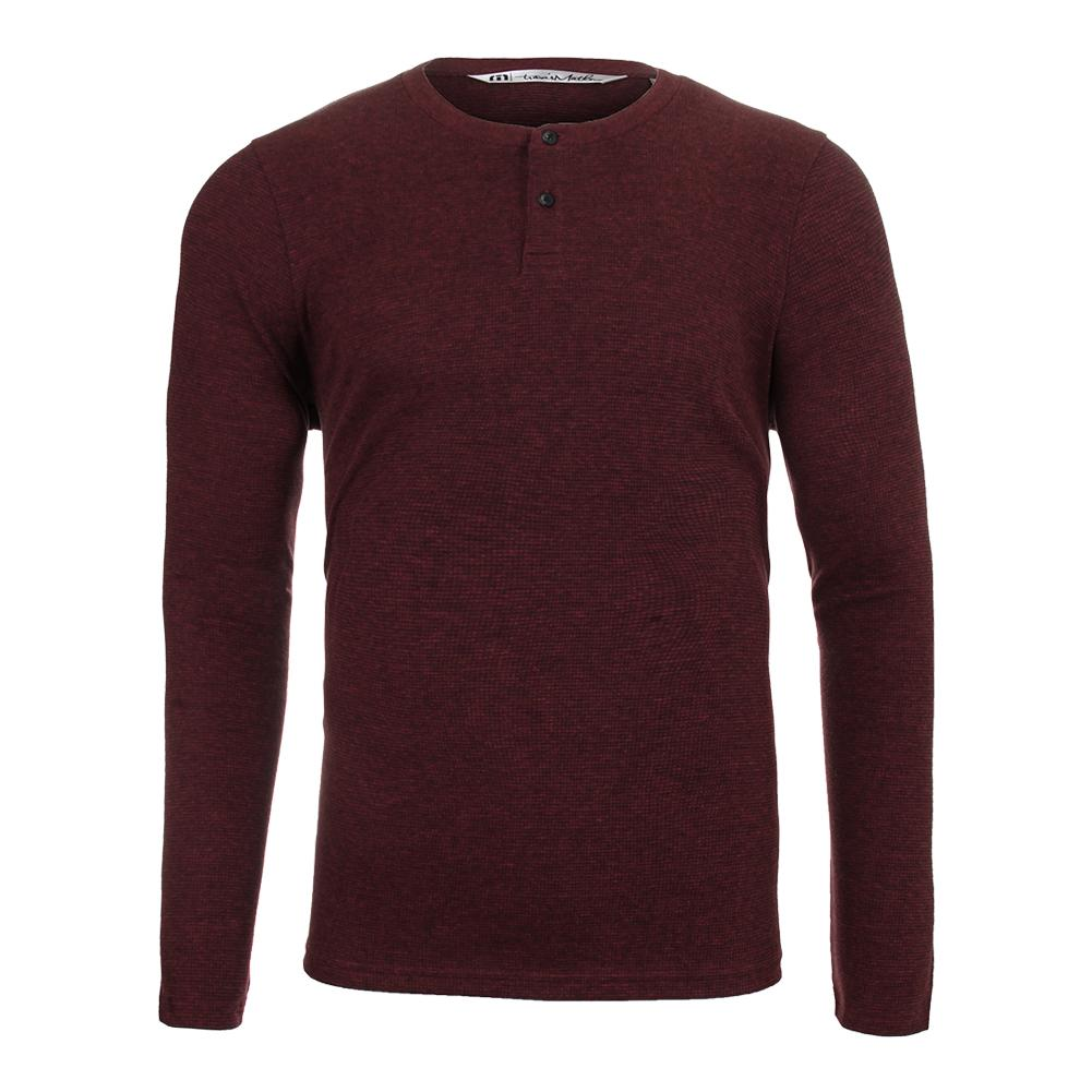 Men's The Lux Long Sleeve Tennis Top Ox Blood And Black