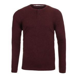Men`s The Lux Long Sleeve Tennis Top Ox Blood and Black