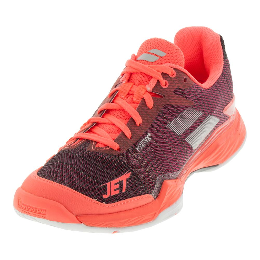 Women's Jet Mach 2 Tennis Shoes Fluo Pink And Silver
