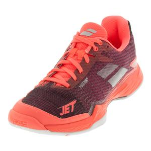 Women`s Jet Mach 2 Tennis Shoes Fluo Pink and Silver