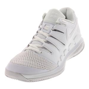 Women`s Air Zoom Vapor X Tennis Shoes White and Vast Gray
