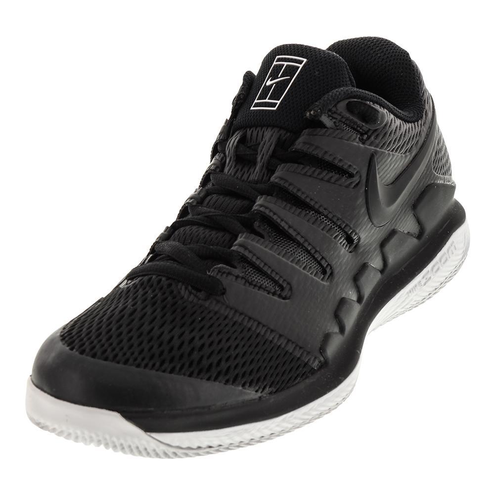 Men's Air Zoom Vapor 10 Tennis Shoes Black And Vast Gray