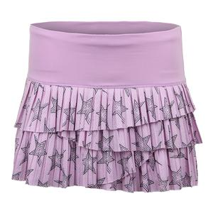 Women`s Star Pleated Scallop Tennis Skort Viola
