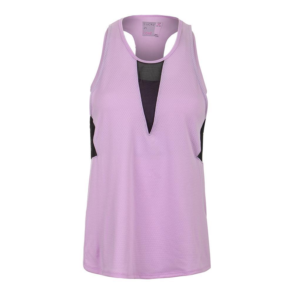 Women's Horizon Bralette Tennis Tank Viola