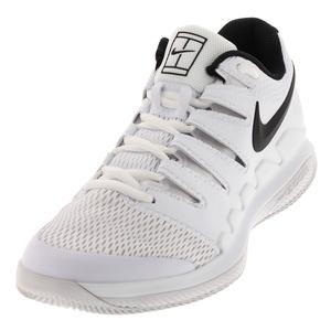 Men`s Air Zoom Vapor X Wide Tennis Shoes White and Black