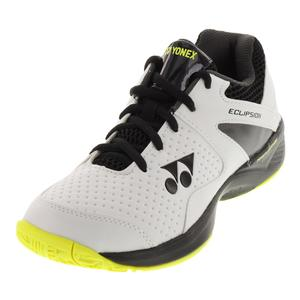 Juniors` Power Cushion Eclipsion 2 Tennis Shoes White and Lime