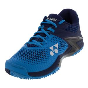 Men`s Power Cushion Eclipsion 2 Paris Clay Tennis Shoes Blue and Navy