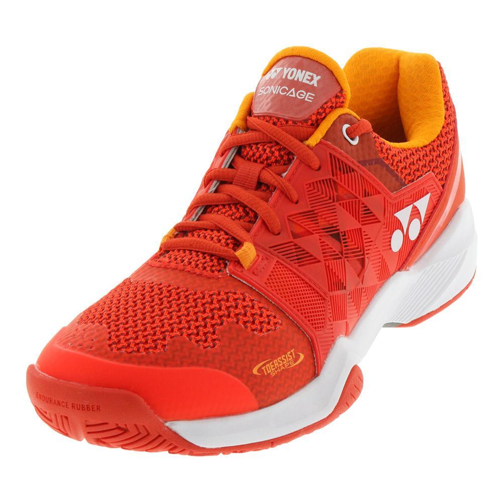 Men's Power Cushion Sonicage Tennis Shoes Orange