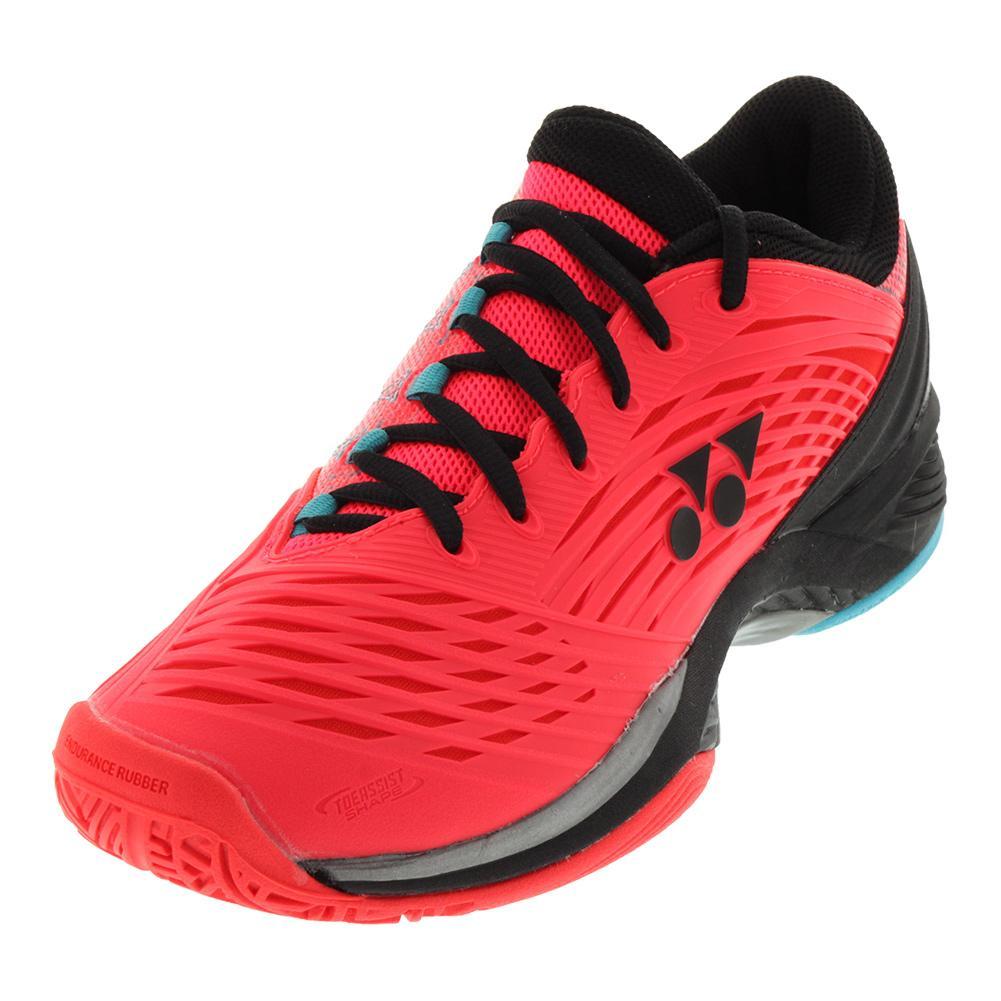 Men's Power Cushion Fusionrev 2 Tennis Shoes Coral Red