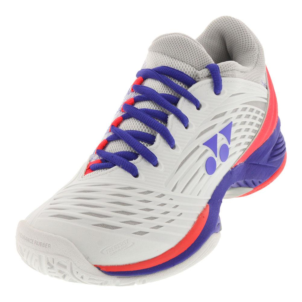 Women's Power Cushion Fusionrev 2 Tennis Shoes White And Purple