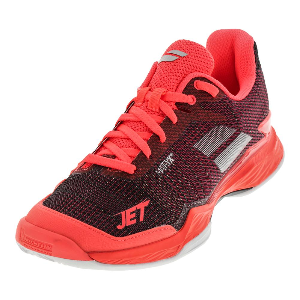 Women's Jet Mach 2 Clay Tennis Shoes Fluo Pink And Silver