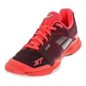 Women`s Jet Mach 2 Clay Tennis Shoes Fluo Pink and Silver