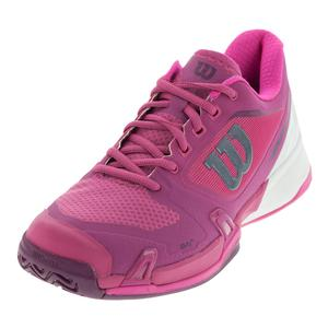 Women`s Rush Pro 2.5 Tennis Shoes Very Berry and White