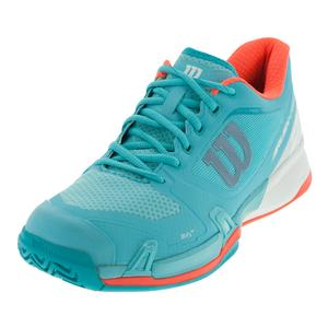 Women`s Rush Pro 2.5 Tennis Shoes Blue Curacao and White
