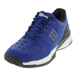 Men`s Rush Comp Tennis Shoes Mazarine Blue and Black