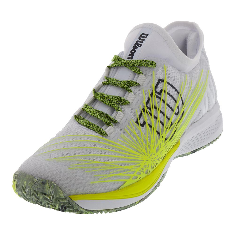 Men's Kaos 2.0 Sft Tennis Shoes White And Safety Yellow