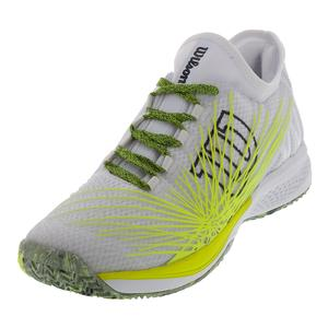 Men`s Kaos 2.0 SFT Tennis Shoes White and Safety Yellow