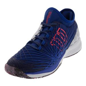 Men`s Kaos 2.0 Sft Tennis Shoes Mazarine Blue and White
