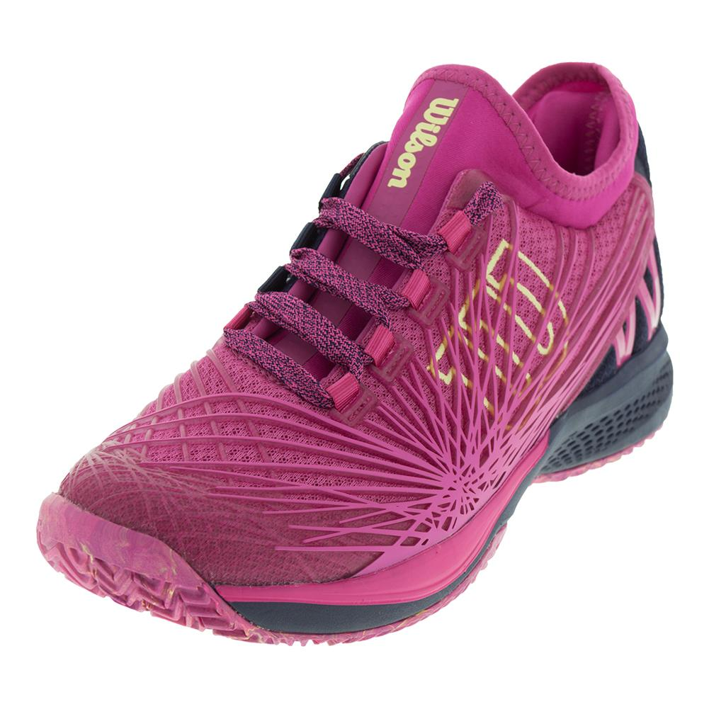 602eac1b00ea Wilson Women s Kaos 2.0 SFT Tennis Shoes in Very Berry and Evening Blue