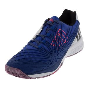 Men`s Kaos 2.0 Tennis Shoes Dazzling Blue and White