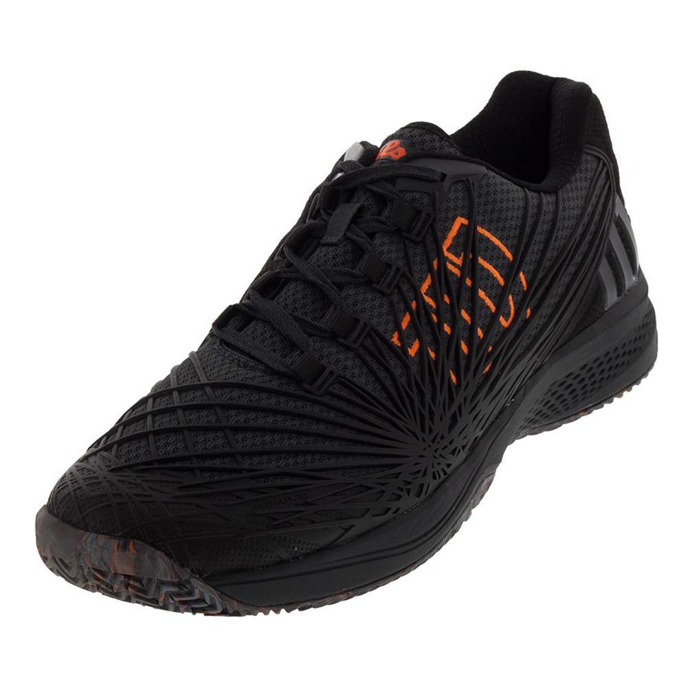 Men's Kaos 2.0 Tennis Shoes Ebony And Shocking Orange