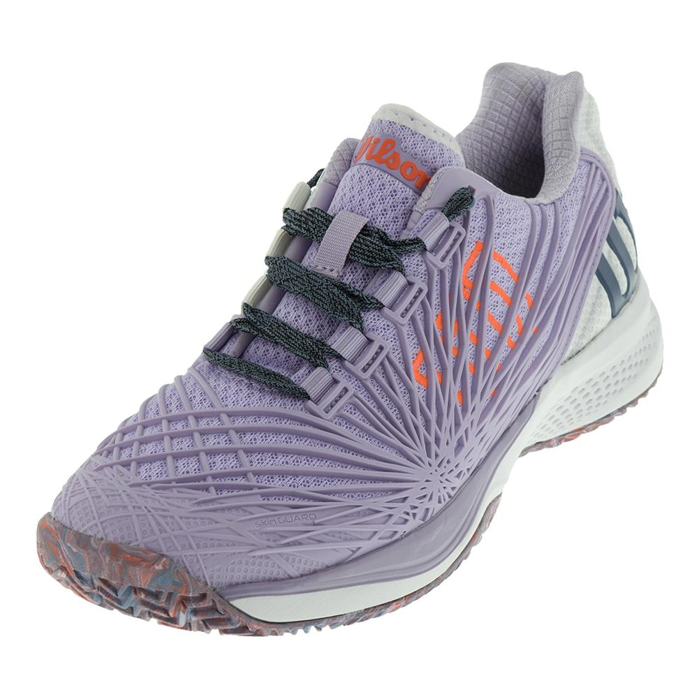 d44cbe2e8051 Wilson Women s Kaos 2.0 Tennis Shoes in Pastel Lilac and White