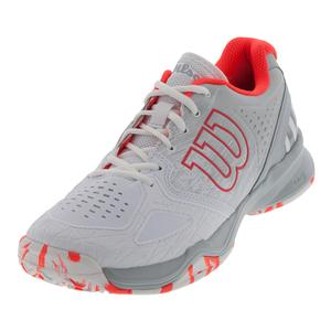 Women`s Kaos Comp Tennis Shoes White and Pearl Blue