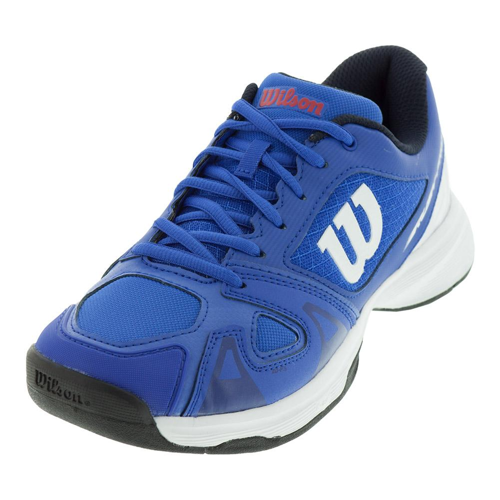 Juniors ` Rush Pro 2.5 Tennis Shoes Dazzling Blue And White