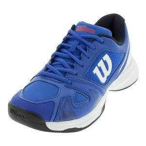 Juniors` Rush Pro 2.5 Tennis Shoes Dazzling Blue and White