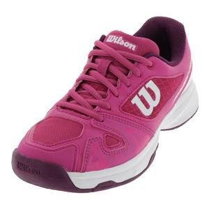 Juniors` Rush Pro 2.5 Tennis Shoes Very Berry and White