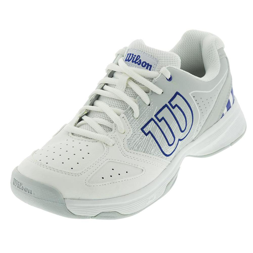 Juniors'stroke Tennis Shoes White And Pearl Blue