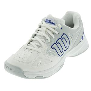 Juniors` Stroke Tennis Shoes White and Pearl Blue