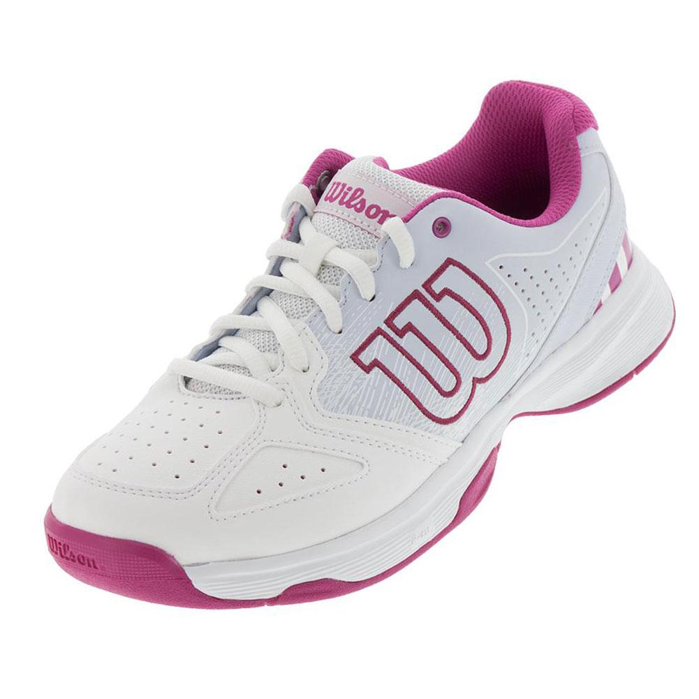 Juniors'stroke Tennis Shoes White And Halogen Blue
