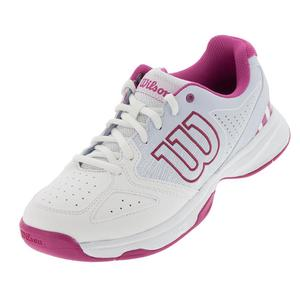 Juniors` Stroke Tennis Shoes White and Halogen Blue
