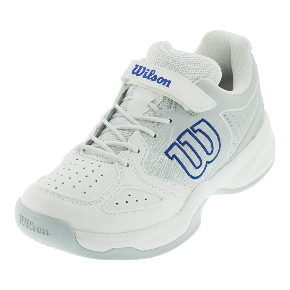 Kids'stroke Tennis Shoes White And Pearl Blue