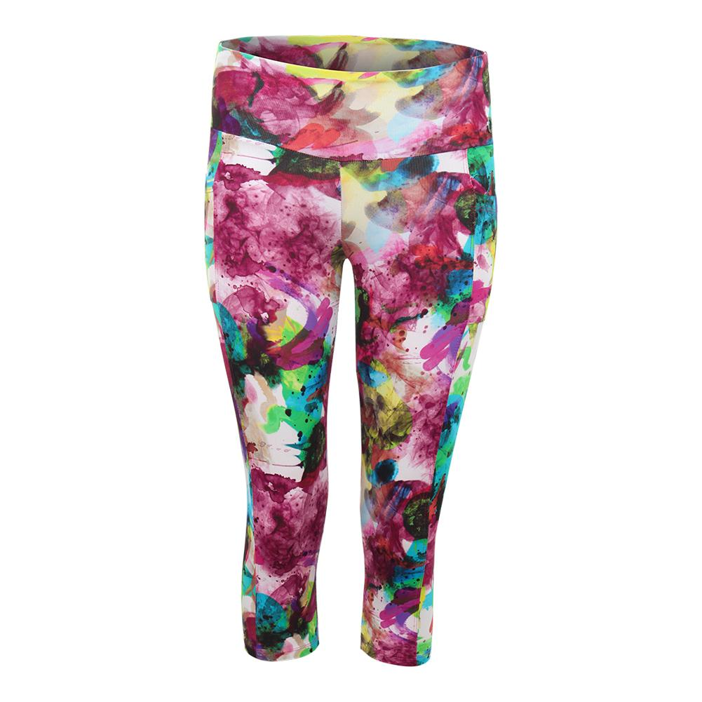 Women's Create Full Tennis Capri Print