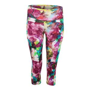 Women`s Create Full Tennis Capri Print