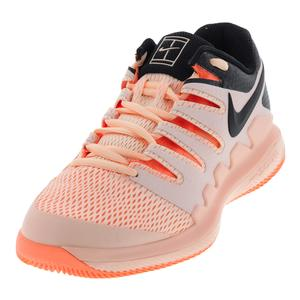 Women`s Air Zoom Vapor 10 Tennis Shoes Crimson Tint and Black