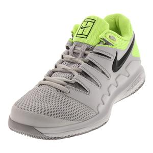 Juniors` Air Zoom Vapor 10 Tennis Shoes Vast Gray and Black