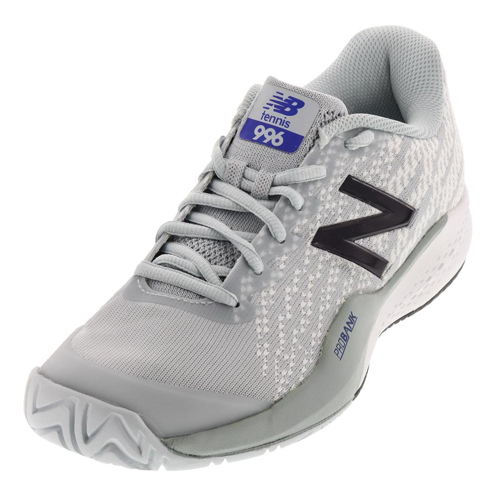 Men's 996v3 D Width Tennis Shoes Gray And White