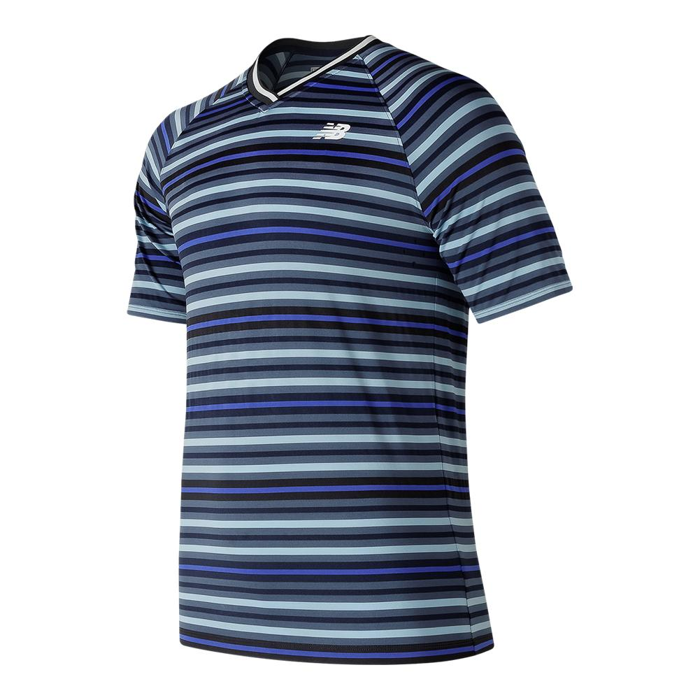 Men's Tournament V Neck Tennis Top Pigment And Clear Sky
