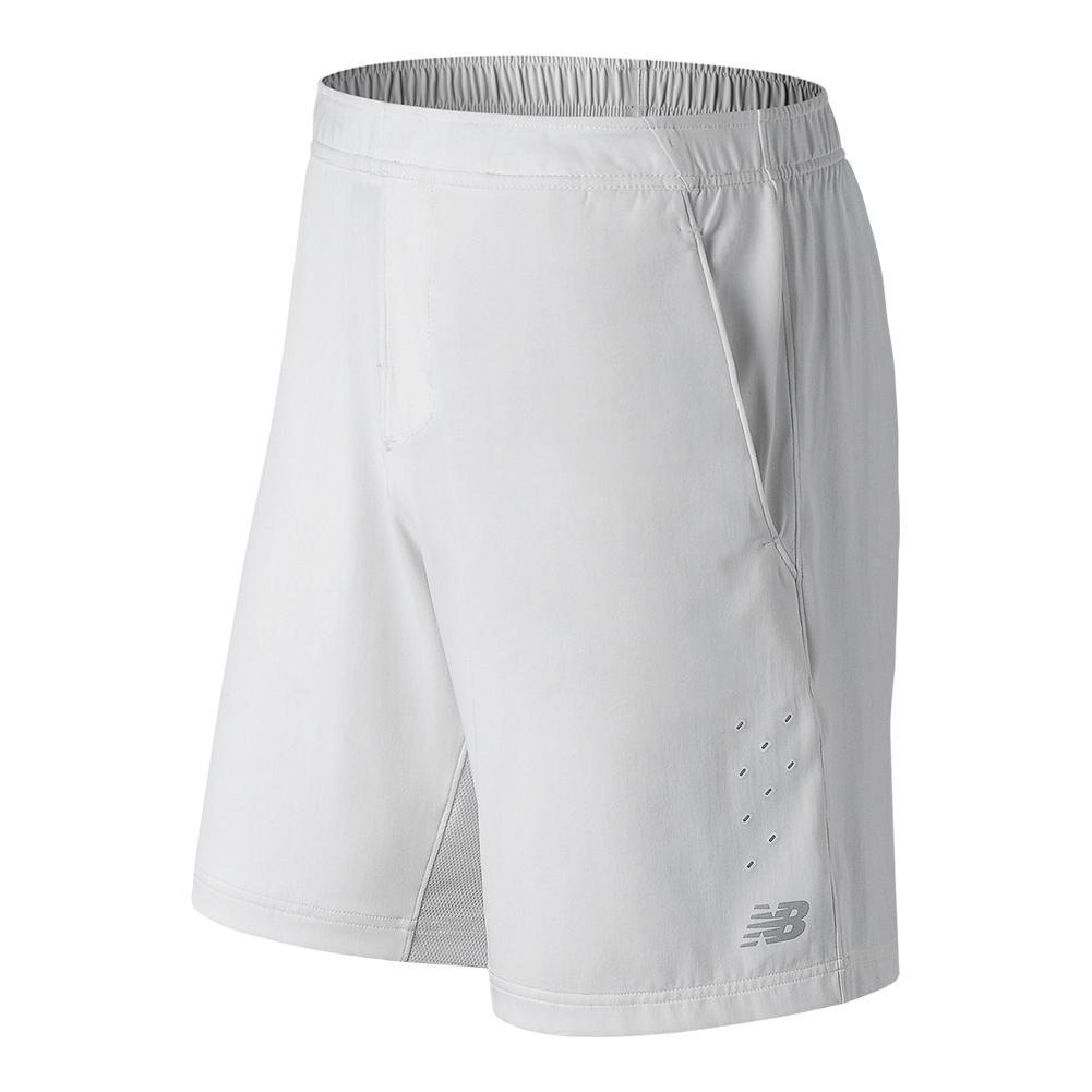 Men's Tournament 9 Inch Tennis Short White